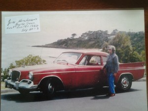 Jean with her 1960 Studebaker Hawk